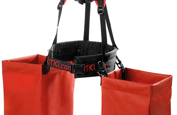 Подвійний наплічний ремінь з лямками у комлекті з м'якими сумками і ременем (Pottiputki)